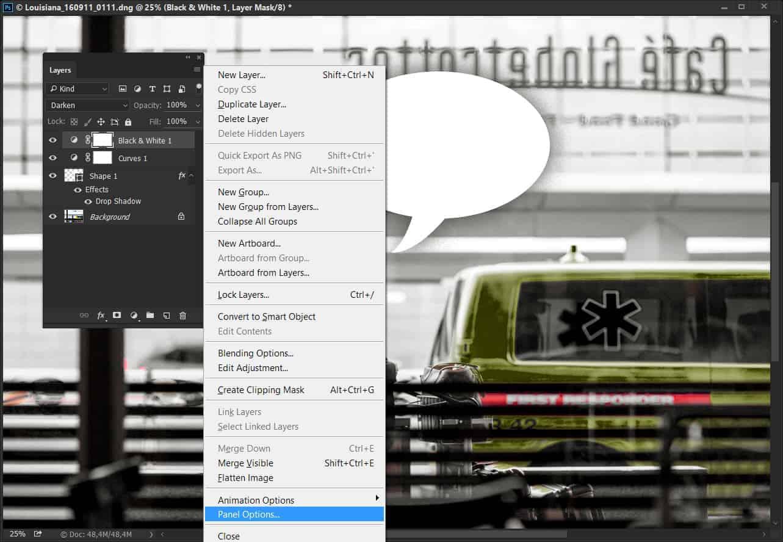 Photoshop lag panel
