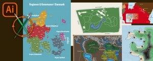 Infografik med kort