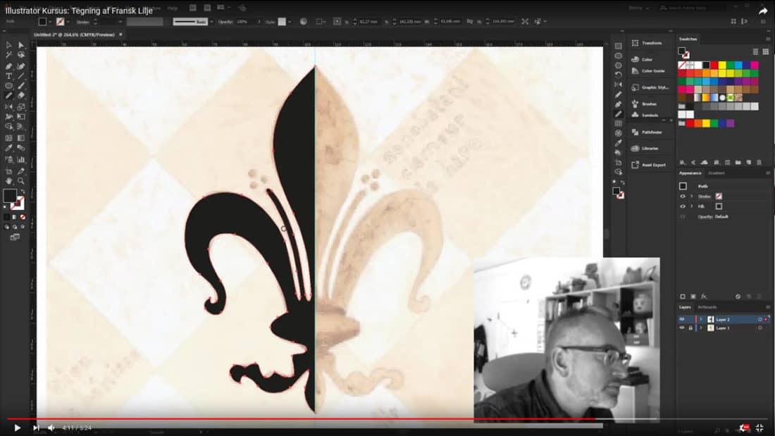 Illustrator-kursus-pen-tool-rentegning-bitspot-kurser