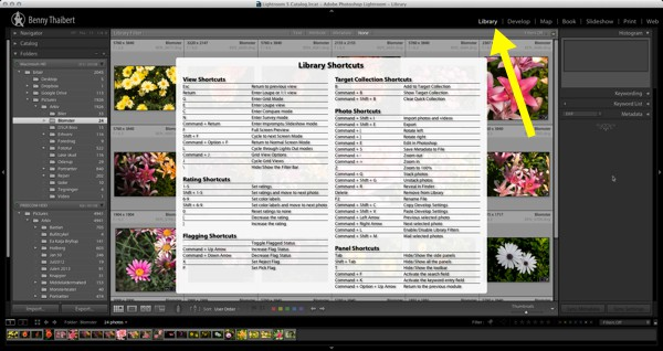 Lightroom-Library-shortcuts