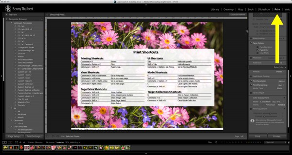 Lightroom-Print-shortcuts