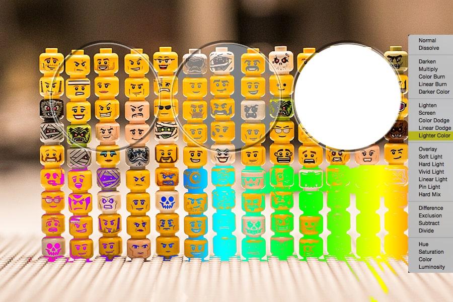 Mode-lighter color