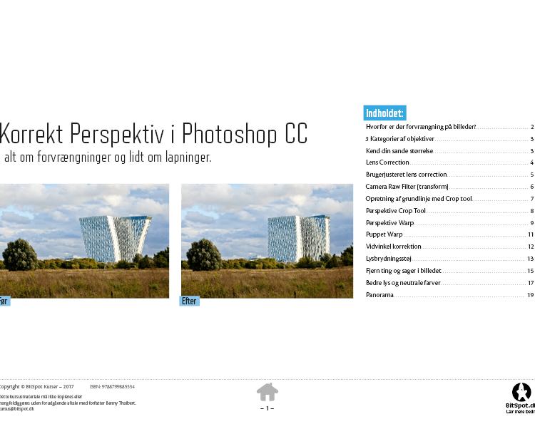 Photoshop Perspektivopretning kursusbog