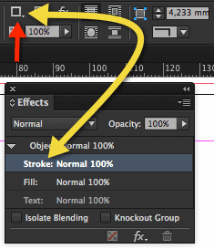 InDesign Effect Panel