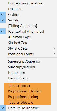 opentype-options