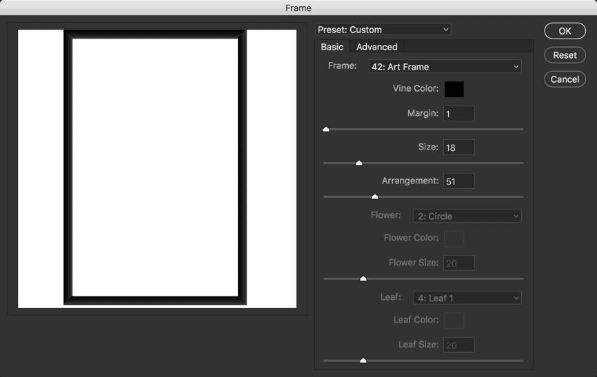picture frame photoshop kursus