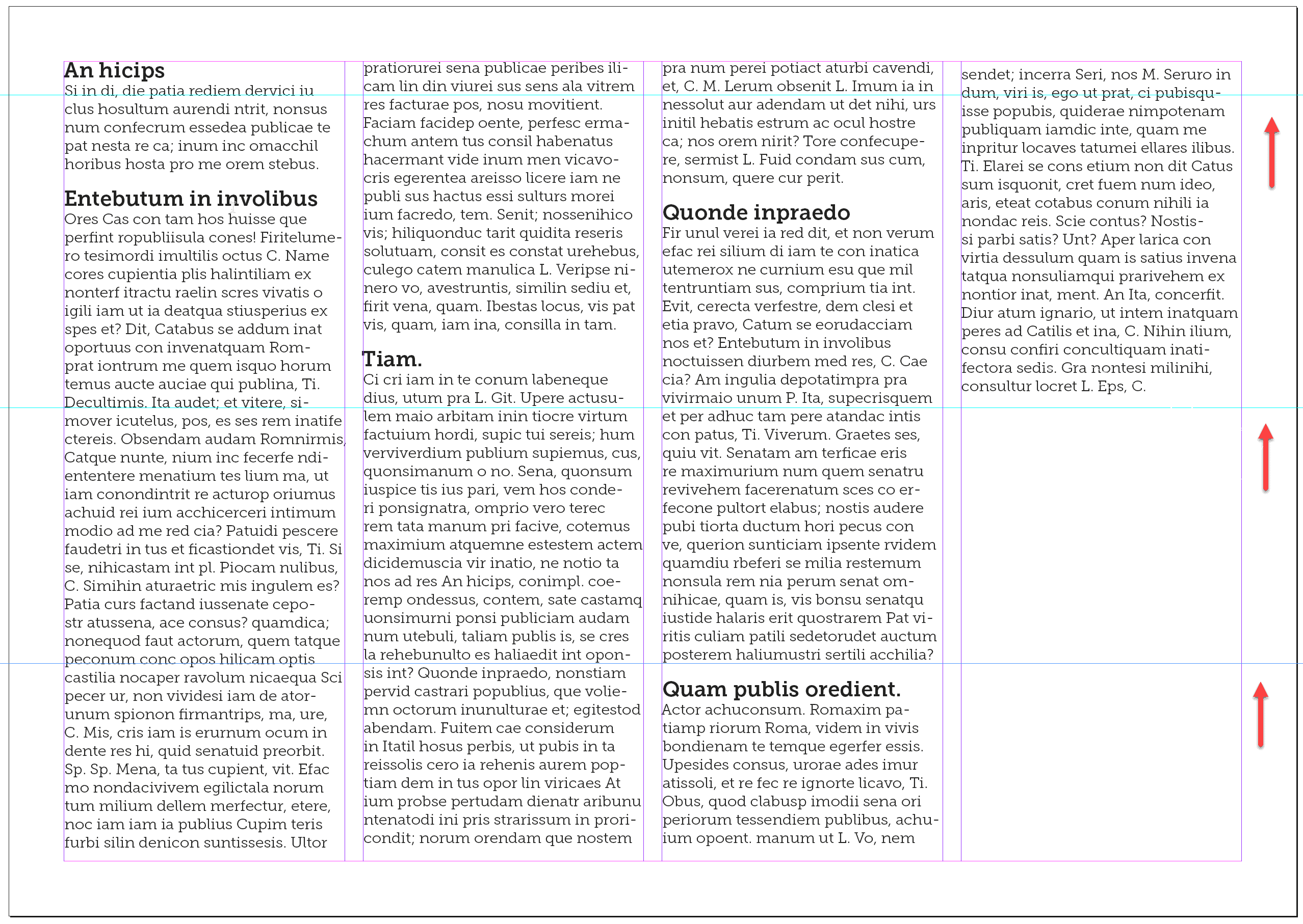indesign ascent text frame