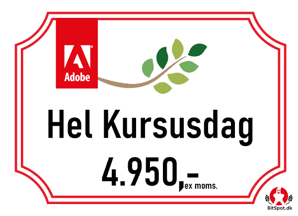 Pris for photoshop kursus per dag