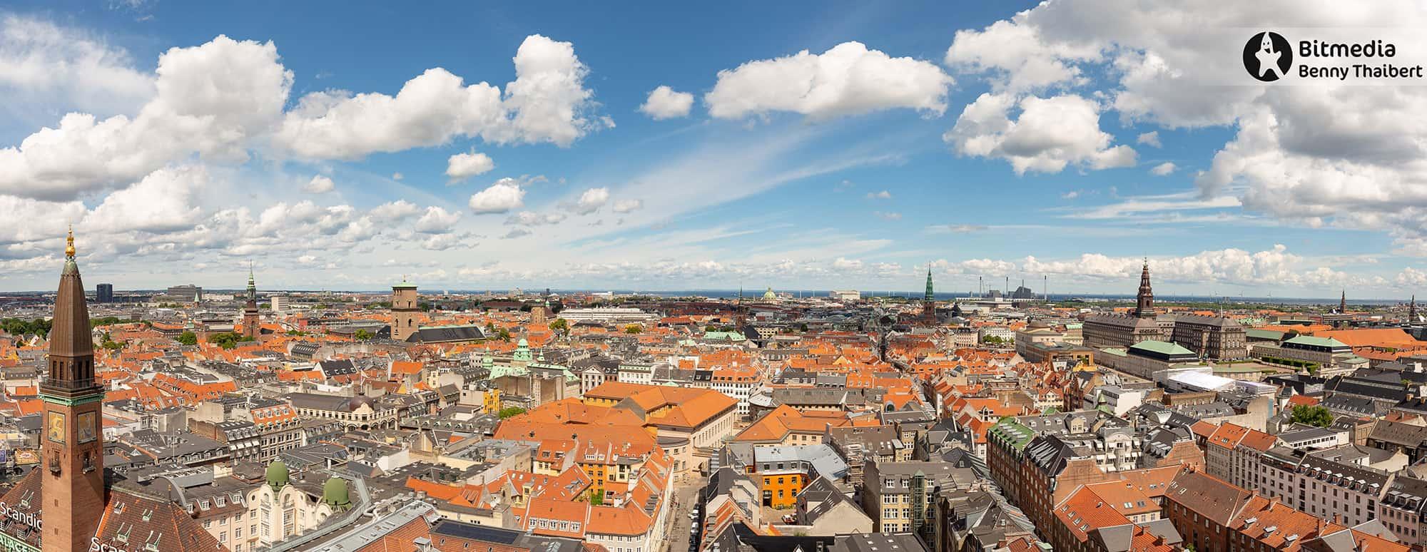 Panorama fra Københavns Rådhustårn.