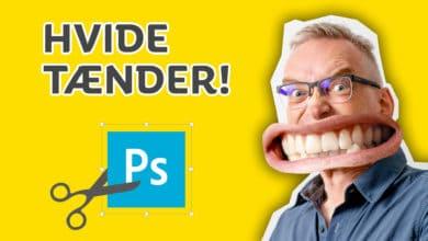 Hvide tænder photoshop