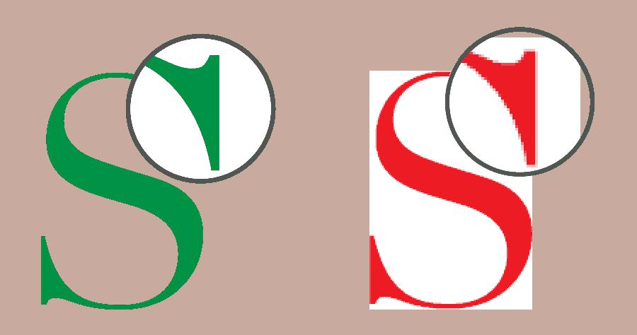 Forskellen på vektor og bitmap billeder