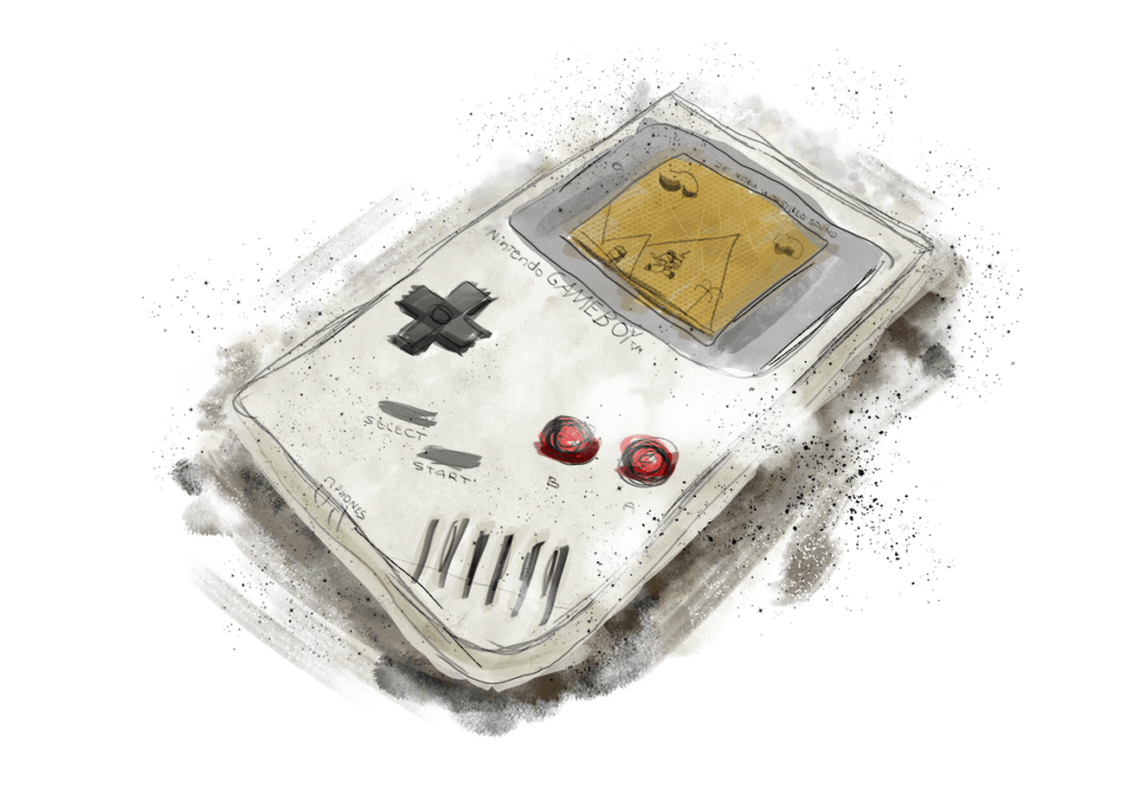 Gameboy Tegning. Tegning i Photoshop af Benny Thaibert
