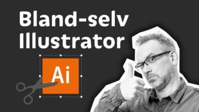 bland selv illustrator kursus
