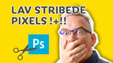 Stribede pixels i Photoshop