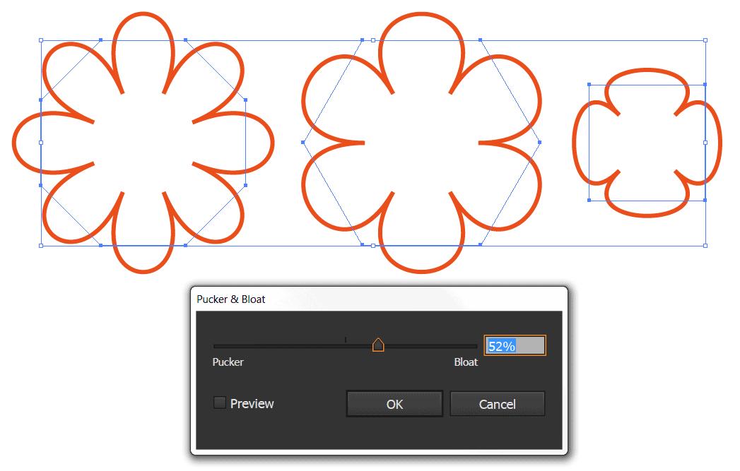 Photo of Splash eller blomst med Pucker and Bloat