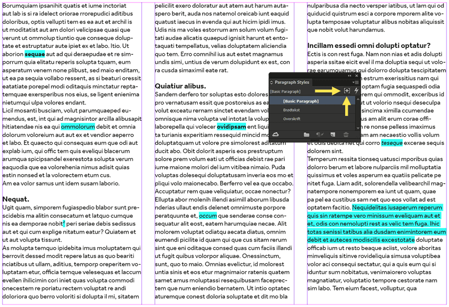 text-layout-indesign-overrides